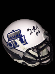 NCAA Shuler Bentley & Zach Pascal Old Dominion ODU Monarchs Signed Mini Helmet ( JSA PSA Pass) 757