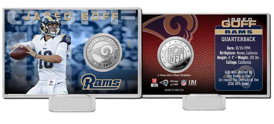 Los Angeles Rams Jared Goff Silver Coin Card (HM) - 757 Sports Collectibles