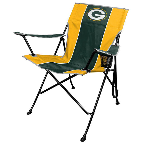 NFL Green Bay Packers Tailgate Folding Quad Chair with Click & Carry Strap - 757 Sports Collectibles
