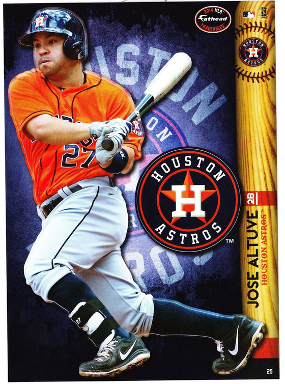 MLB Houston Astros Jose Altuve Fathead Tradeable Decal Sticker 5x7 - 757 Sports Collectibles
