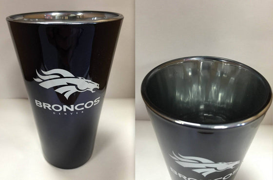 NFL Denver Broncos Lusterware 16 oz Glass Pint - 757 Sports Collectibles