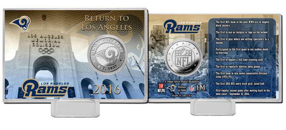 Los Angeles Rams Silver Coin Card (HM)
