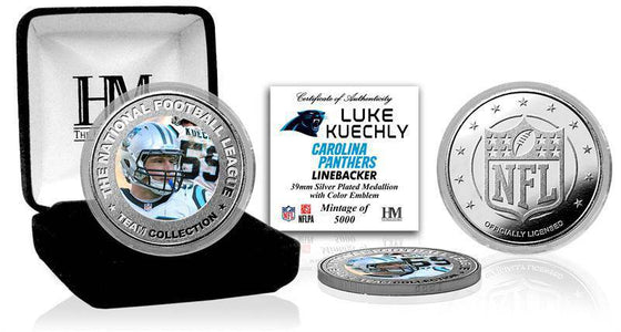 Carolina Panthers Luke Kuechly Silver Color Coin (HM) - 757 Sports Collectibles