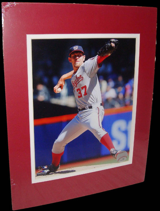 Stephen Strasburg Washington Nationals Grey Matted 8x10 Photo Picture Poster Print
