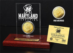 Maryland Terrapins 24KT Gold Coin Etched Acrylic (HM)