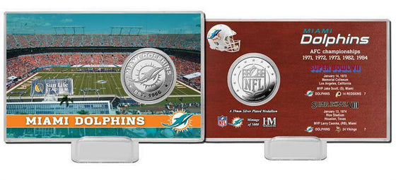 Miami Dolphins Super Bowl Silver Coin Card (HM) - 757 Sports Collectibles