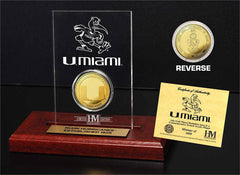 Miami Hurricanes 24KT Gold Coin Etched Acrylic (HM)