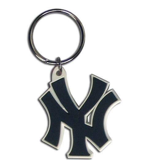 MLB New York Yankees Team Logo Flex Key Chain - 757 Sports Collectibles