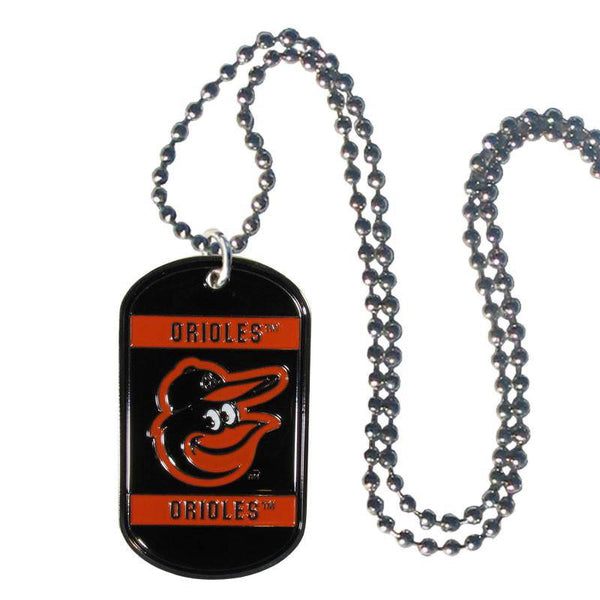 Baltimore Orioles Engraveable Dog Tag Necklace
