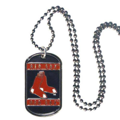 Boston Red Sox Engraveable Dog Tag Necklace