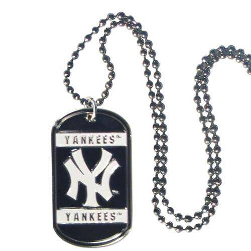 New York Yankees Engraveable Dog Tag Necklace