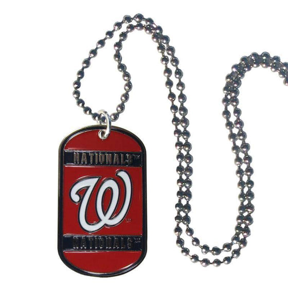 Washington Nationals Engraveable Dog Tag Necklace