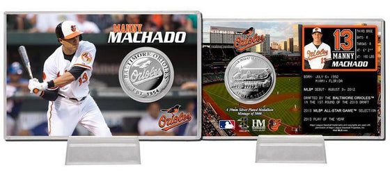 Baltimore Orioles Manny Machado Silver Coin Card (HM)
