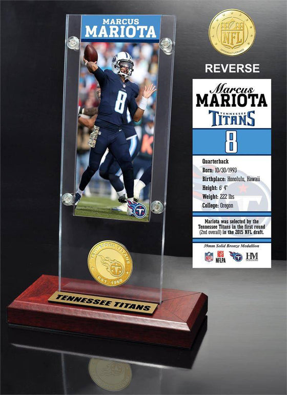 Tennessee Titans Marcus Mariota Ticket & Bronze Coin Ticket Acrylic (HM)