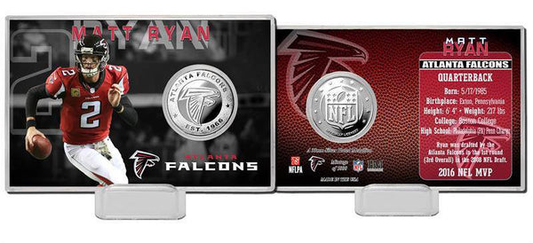 Atlanta Falcons Matt Ryan Silver Coin Card (HM)