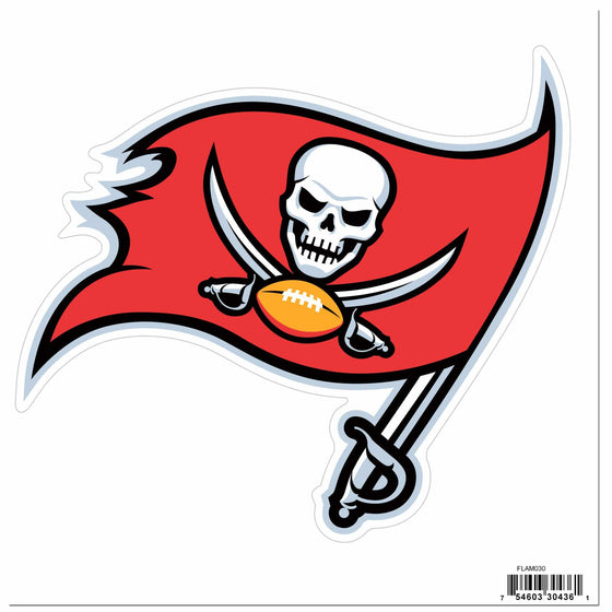 NFL Tampa Bay Buccaneers Indoor/Outdoor Perfect Cut 8 inch Logo Magnet - 757 Sports Collectibles
