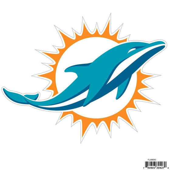 NFL Miami Dolphins Indoor/Outdoor Perfect Cut 8 inch Logo Magnet
