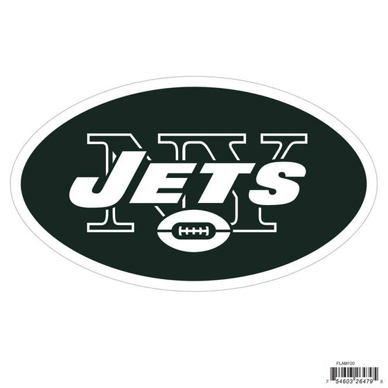 NFL New York Jets Indoor/Outdoor Perfect Cut 8 inch Logo Magnet