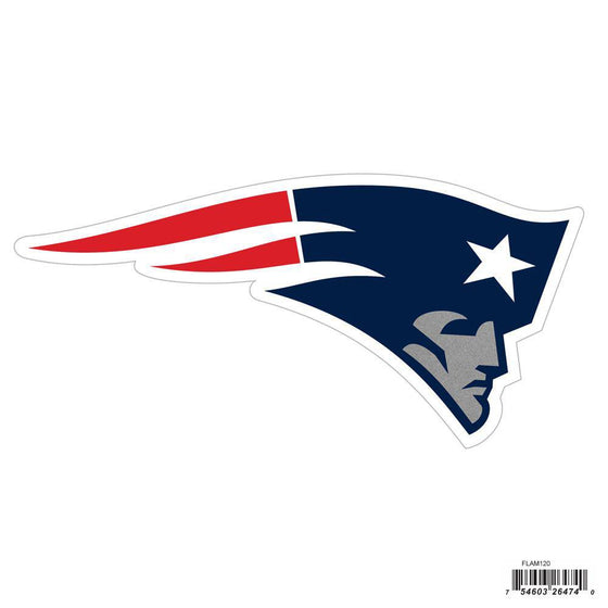 NFL New England Patriots Indoor/Outdoor Perfect Cut 8 inch Logo Magnet