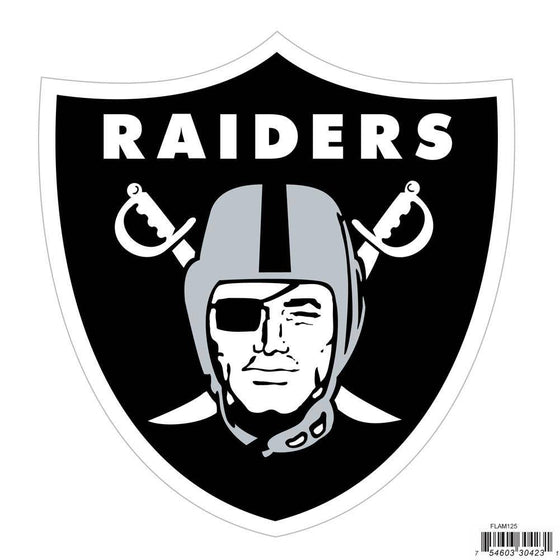 NFL Oakland Raiders Indoor/Outdoor Perfect Cut 8 inch Logo Magnet - 757 Sports Collectibles