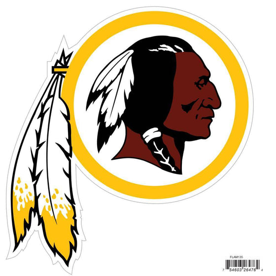 NFL Washington Redskins Indoor/Outdoor Perfect Cut 8 inch Logo Magnet - 757 Sports Collectibles