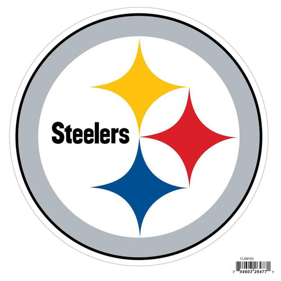 NFL Pittsburgh Steelers Indoor/Outdoor Perfect Cut 8 inch Logo Magnet - 757 Sports Collectibles