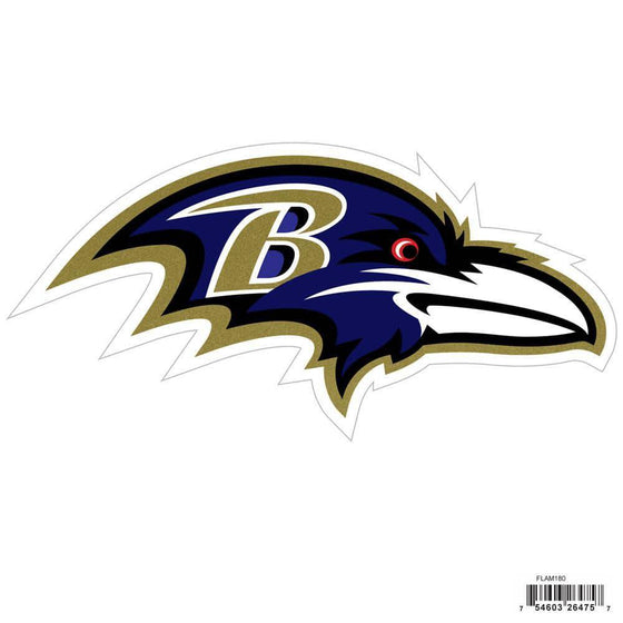 NFL Baltimore Ravens Indoor/Outdoor Perfect Cut 8 inch Logo Magnet