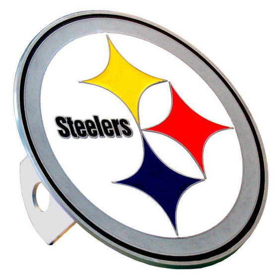 NFL Pittsburgh Steelers Large Logo Metal Hitch Cover Class II & III - 757 Sports Collectibles