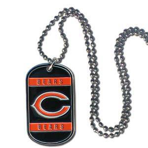 NFL Chicago Bears Engraveable Dog Tag Necklace