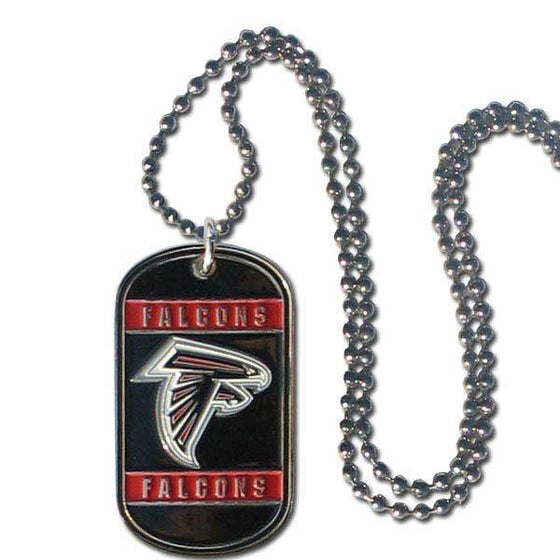 NFL Atlanta Falcons Engraveable Dog Tag Necklace - 757 Sports Collectibles