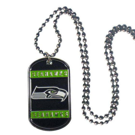 NFL Seattle Seahawks Engraveable Dog Tag Necklace - 757 Sports Collectibles