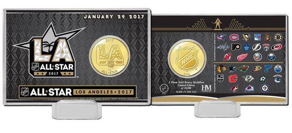 2017 NHL All Star Game Bronze Coin Card (HM)