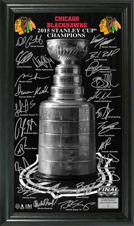 "Chicago Blackhawks 2015 Stanley Cup Champions ""Trophy"" Signature Photo (HM)"