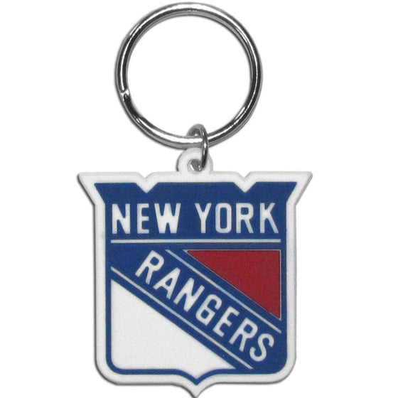 NHL New York Rangers Team Logo Flex Key Chain - 757 Sports Collectibles