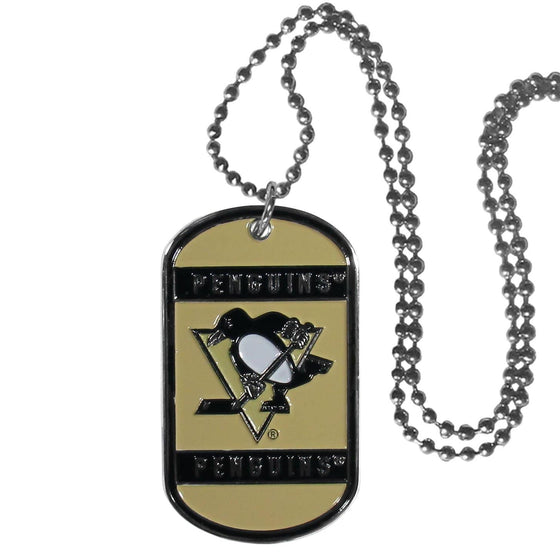 NHL Pittsburgh Penguins Engraveable Dog Tag Necklace