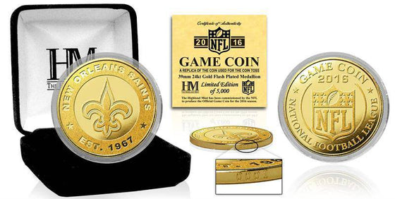 "New Orleans Saints 2016 Gold Game ""Flip"" Coin (HM) - 757 Sports Collectibles"