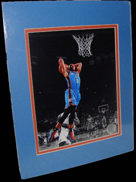 Russell Westbrook Oklahoma City Thunder Spotlight Matted 8x10 Photo Picture Poster Print