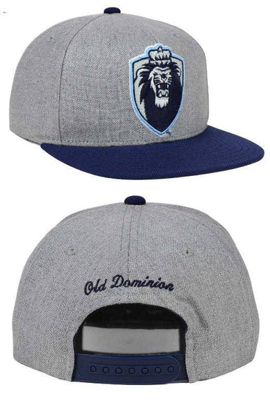 NCAA Old Dominion ODU Monarchs Stacked Box Blue/Gray Snapback Hat