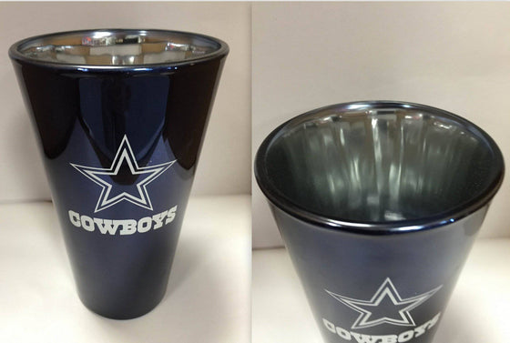 NFL Dallas Cowboys Lusterware 16 oz Glass Pint