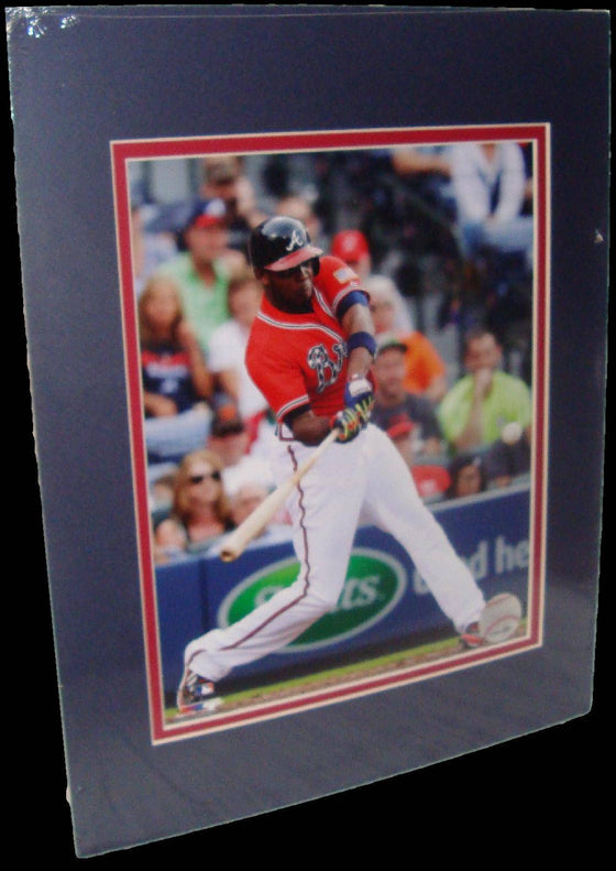 Justin Upton Atlanta Braves Red Matted 8x10 Photo Picture Poster Print - 757 Sports Collectibles