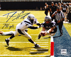 NCAA Taylor Heinicke Old Dominion ODU Monarchs Signed 16x20 Inscribed 791 Yards ( JSA PSA Pass) 757