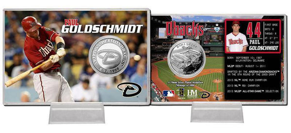 Arizona Diamondbacks Paul Goldschmidt Silver Coin Card (HM)