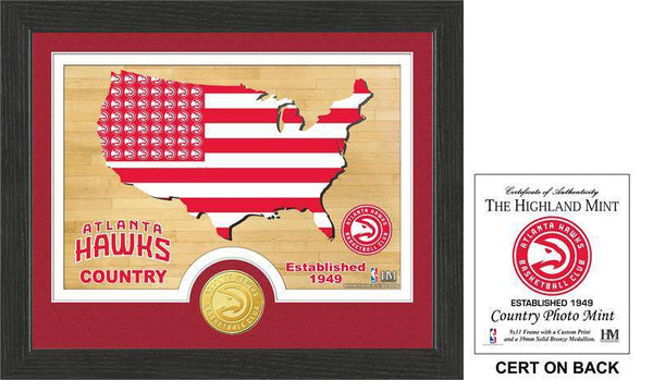 "Atlanta Hawks ""Country"" Bronze Coin Photo Mint (HM)"