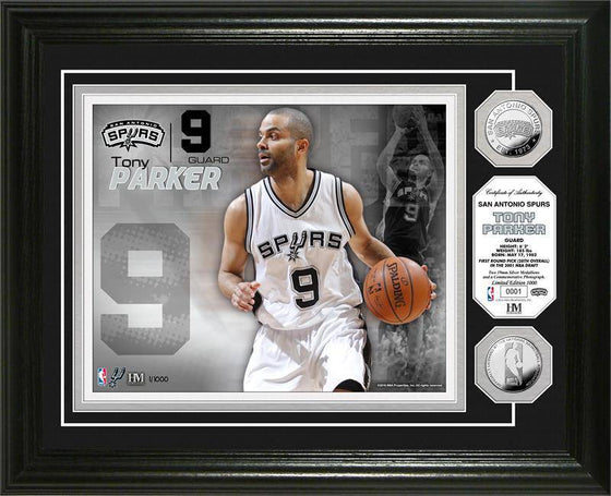 San Antonio Spurs Tony Parker Silver Coin Photo Mint (HM)
