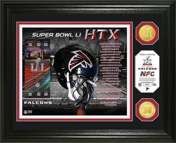 Atlanta Falcons Super Bowl 51  Minted Coin Photo Mint (HM)