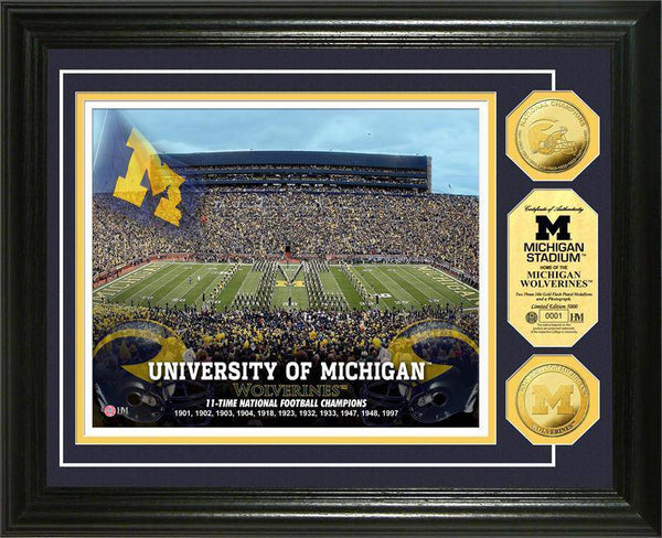 University of Michigan Wolverines Stadium Gold Coin Photo Mint (HM)