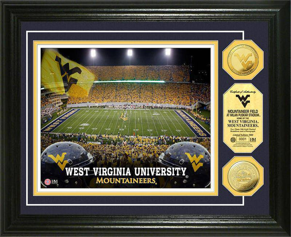West Virginia University Mountaineers Field 24KT Gold Coin Photomint (HM)