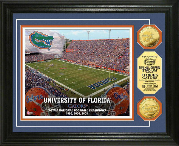 University of Florida Gators Stadium Gold Coin Photo Mint (HM)