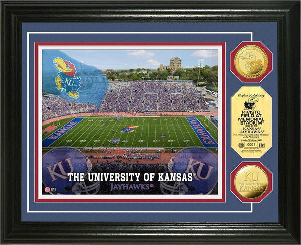 University of Kansas Jayhawks Kivisto Field 24KT Gold Coin Photomint (HM)