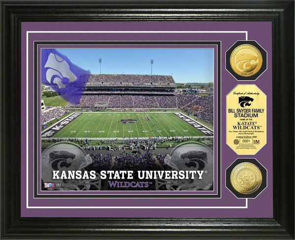 Kansas State Wildcats Bill Snyder Family Stadium 24KT Gold Coin Photomint (HM)